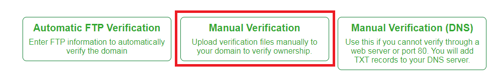 SSL for Free Option Examples
