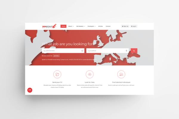 Red Recruit Ltd Website Mock-up