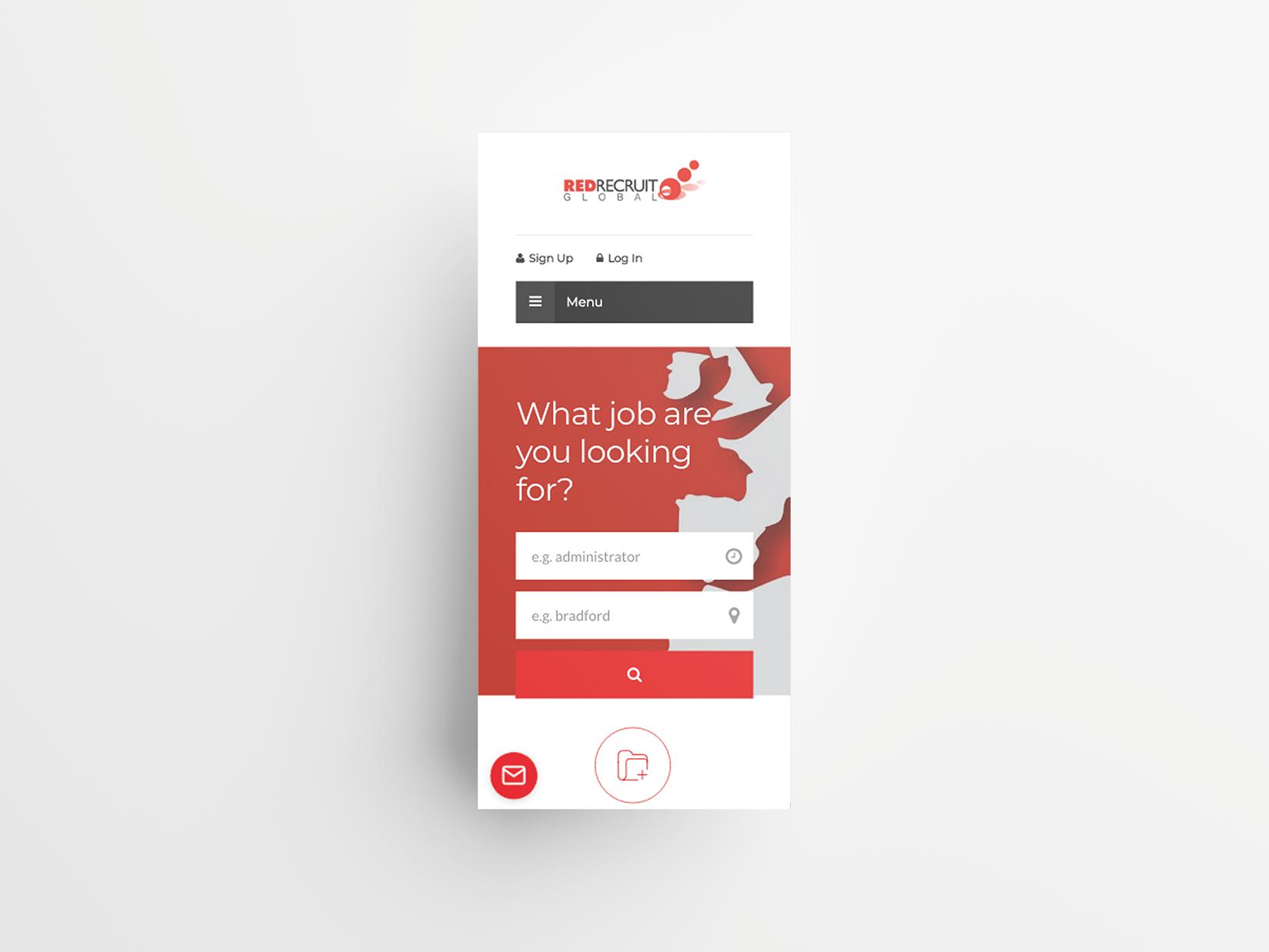 Red Recruit Ltd Website Mock-up Mobile