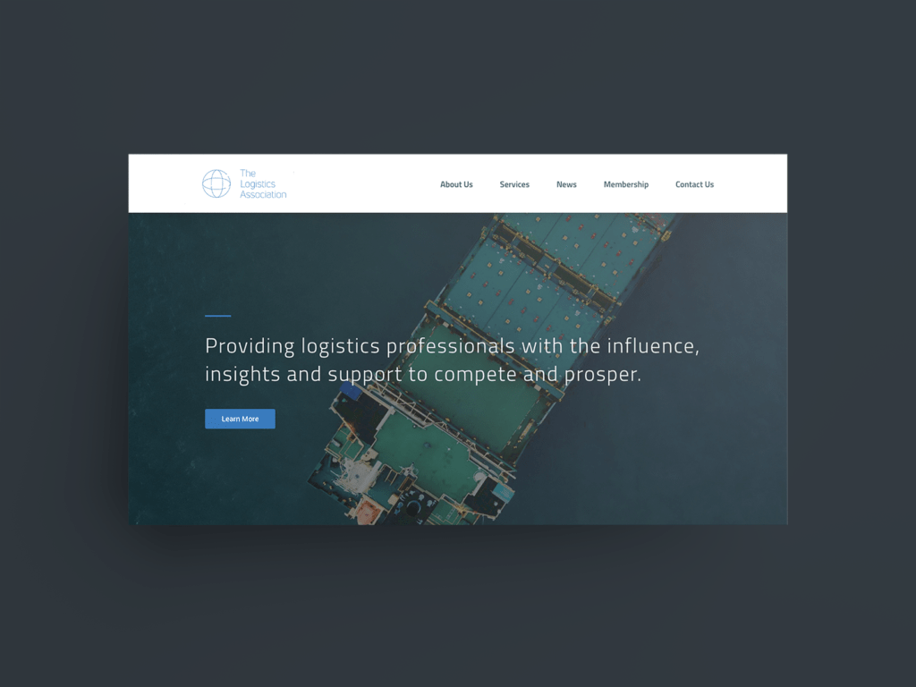 The Logistics Association Website Mock-up