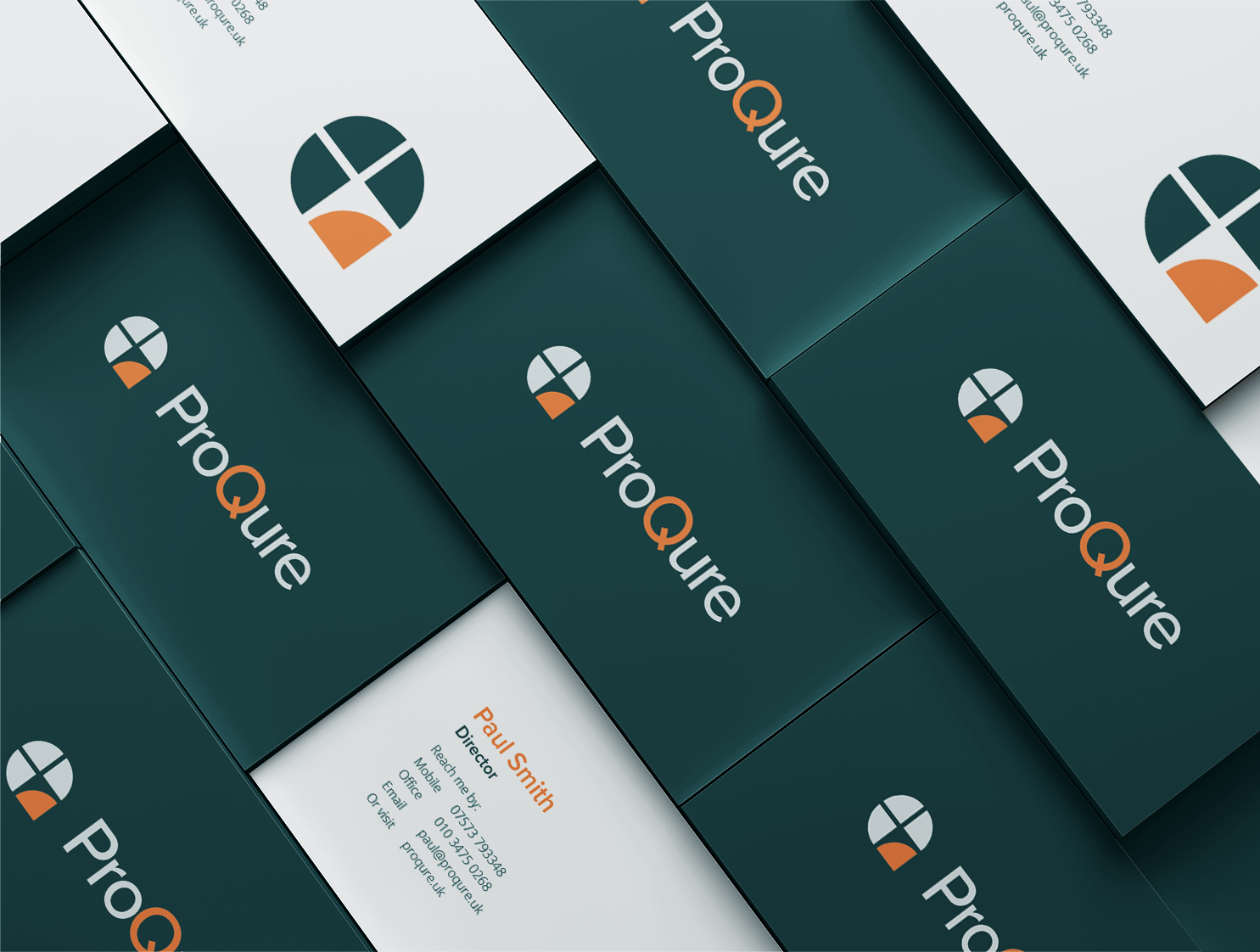 ProQure Branding Project (Logo Business Cards)