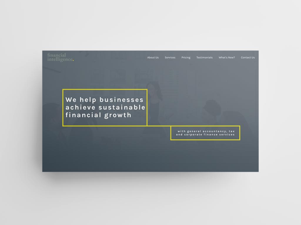 Financial Intelligence Website Mockup 1